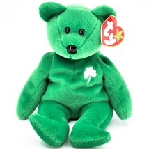 1997 Ty Beanie Baby Original Erin Lucky Shamrock Teddy Bear Beanbag Plus... - £5.03 GBP
