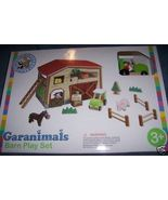 Garanimals Barn Playset Horse Tractor Pig Cow Child Learning Toy Natural... - $18.00