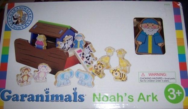 Garanimals Noah's Ark Playset Natural Wood Develops Motor Skills Vibrant Colors