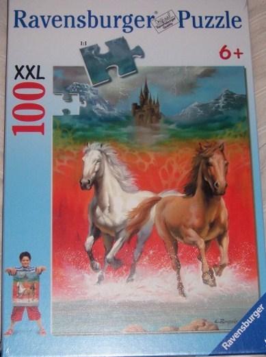 Ravensburger Dashing Horses Castle Clouds Puzzle 100 PC