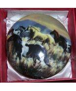 Wild Horses Porcelain Hinged Trinket Box NEW Ponies - $12.00