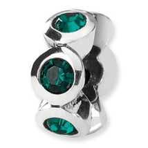 Reflection Beads Sterling Silver May Crystal Birthstone Bead Charm - $24.74