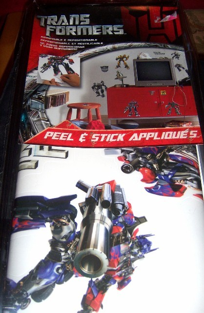 Transformers Peel & Stick Wall Appliques NEW Bumblebee