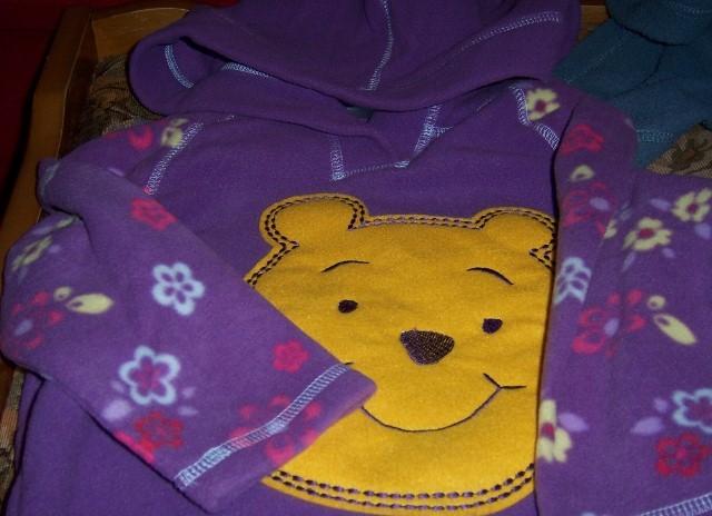 Winnie the Pooh Toddler Hoodie SZ 2T NEW Girls Purple
