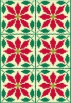 Latch Hook Rug Pattern Chart: Poinsettia Quilt- EMAIL2u - $5.75