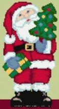 Latch Hook Rug Pattern Chart: Santa Claus - EMAIL2u - $5.75