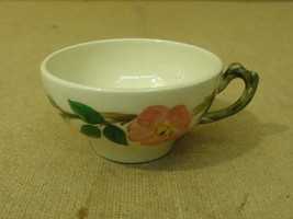 Franciscan Vintage Tea & Coffee Cup 2in H Floral Desert Rose USA Earthen... - $9.43
