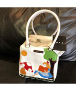 Disney GILLI Alice in Wonderland Cube Bag White Rabbit Hand Boston - $735.57