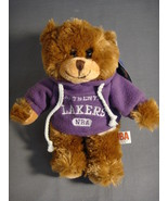 "LOS ANGELES LAKERS HOODIE SWEATSHIRT 9"" TEDDY BEAR NEW NBA - $7.50"