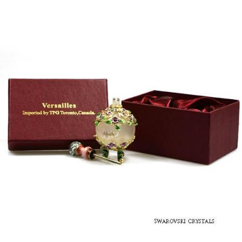 Bejeweled Flowers with Swarovski Crystals Perfume Bottle