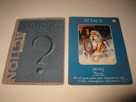 2003 Age of Mythology Board Game Piece: Norse Random Card: Attack - Bragi  - $1.00