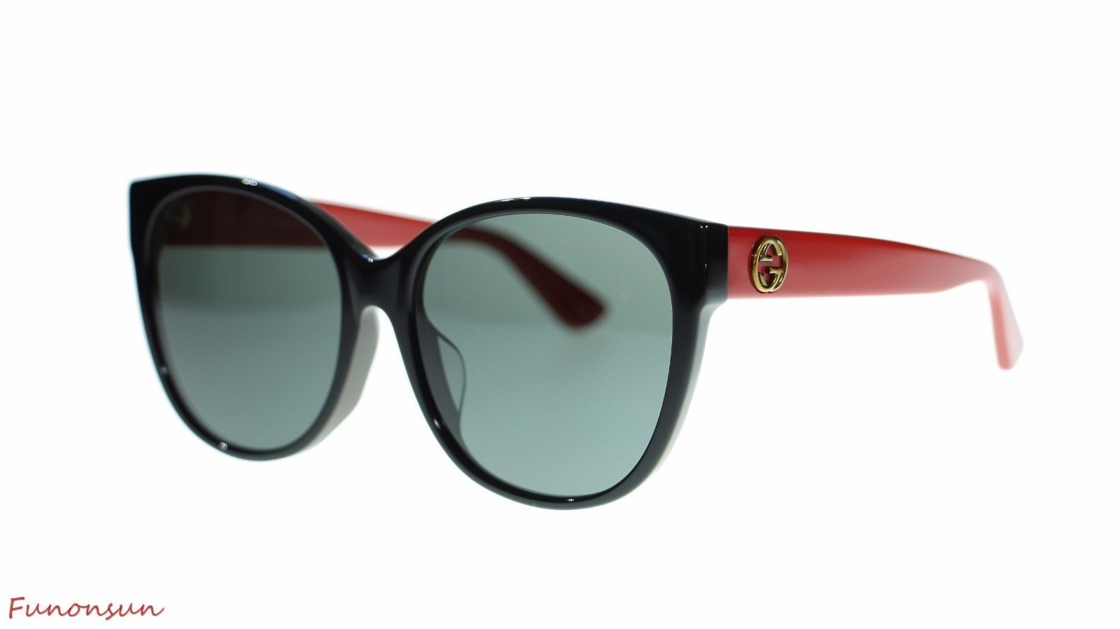 a9592db9912 S l1600. S l1600. Previous. Gucci Women Cat Eye Sunglasses GG0097SA 004  Black Red Grey Gradient Lens 58mm