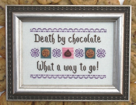 Death By Chocolate MBT055 cross stitch chart My Big Toe Designs - $8.00