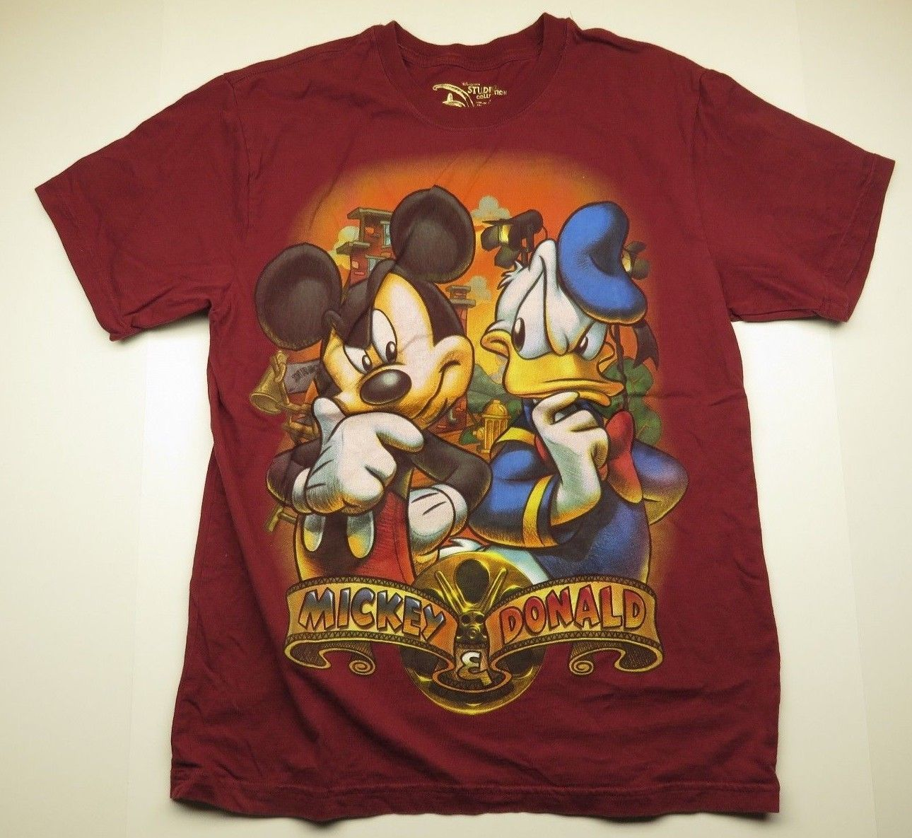 09f7844f S l1600. S l1600. Previous. DISNEY Studio Collection Mickey Mouse & Donald  Duck Graphic T-Shirt Adult Size L