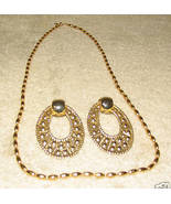 Vintage Costume Jewelry Goldtone Napier Necklace & Earrings - $9.95