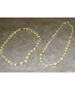 Vintage Costume Jewelry Pair of Shell Necklaces - $8.95