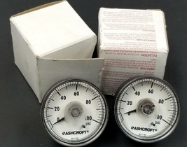 LOT OF 2 NIB ASHCROFT 9017-02 GAUGES 0-100 PSI