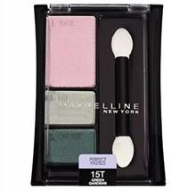 New Maybelline Expert Wear Eyeshadow Trio Perfect Pastels 15T Green Gardens - $7.92