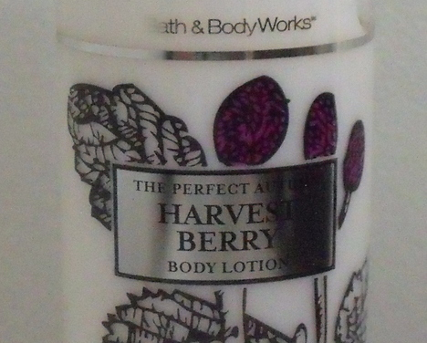 Bath and Body Works New Harvest Berry Body Lotion 10 oz