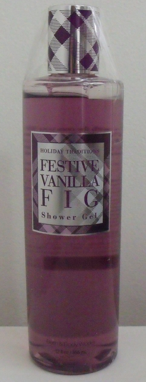 Bath and Body Works Festive Vanilla Fig Shower Gel 12 oz Bath & Body Works