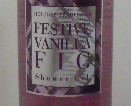 Bath and Body Works Festive Vanilla Fig Shower Gel 12 oz