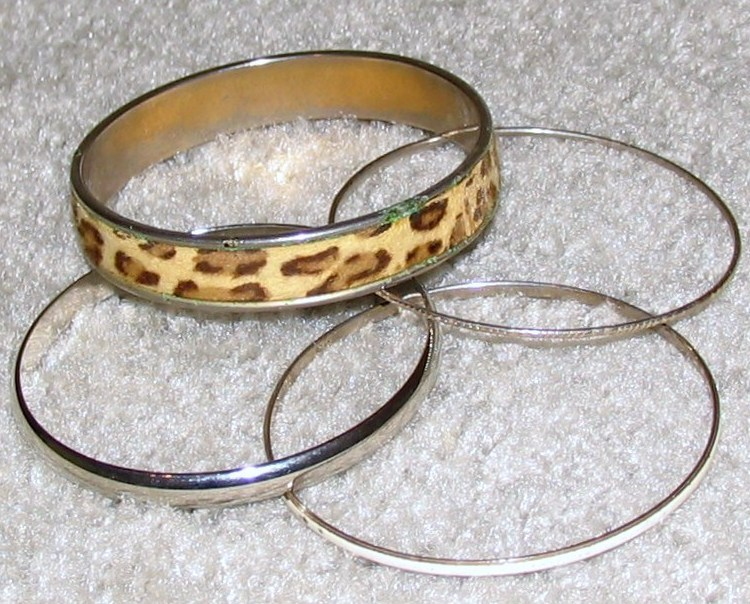Vintage Costume Jewelry 4 Misc.Gold & Silver Bracelets