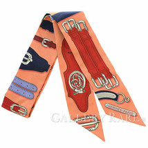 Hermes Scarf Twilly Harnais Des Presidents Silk Twill France Authentic 4... - $174.15