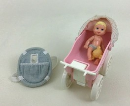 """Barbie Happy Family Baby Krissy 3"""" Jointed w Tiny Steps Kelly Stroller 1... - $22.23"""