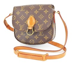 Authentic LOUIS VUITTON Saint Cloud PM Monogram Shoulder Bag #33373 - $459.00