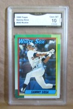 Sammy Sosa Rc 1990 Topps Baseball CARD#692 Gem GMA10! PSA10?WHITE Sox Of Rc Goat - $197.99
