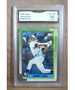 SAMMY SOSA RC 1990 TOPPS BASEBALL CARD#692 GEM GMA10! PSA10?WHITE SOX OF... - $197.99