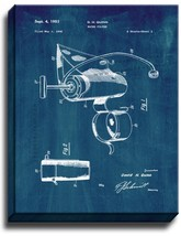 Water Filter Patent Print Midnight Blue on Canvas - $39.95+