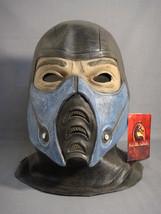 Mortal Kombat Sub Zero Teen / Adult Latex Halloween Mask New - $27.41
