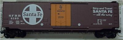 Micro Trains 32050/2 SF 50' Boxcar 6160