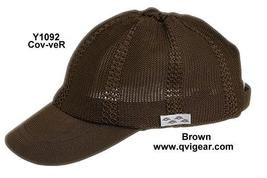 Conner Hats Y1092 Open Weave Polyester Knit Sports Cap Velcro Closure Brown - $25.07 CAD