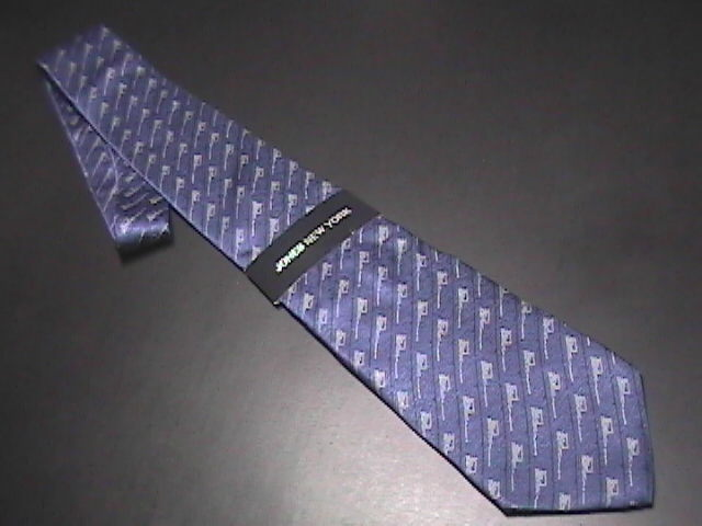 Tie jones new york blue with silver accents new with original tags 01