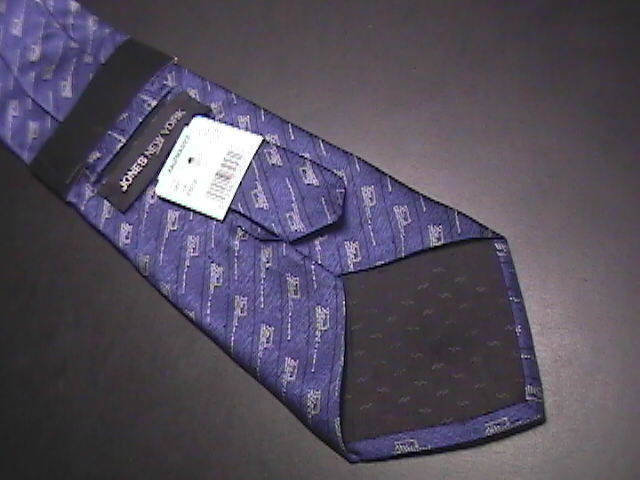 Jones New York Neck Tie Blues Completely Unused Still in Paper Sleeve with Tags