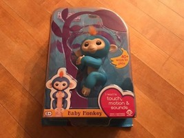 WowWee Fingerlings Blue Boris Baby Monkey Interactive Pet Toy - $18.69