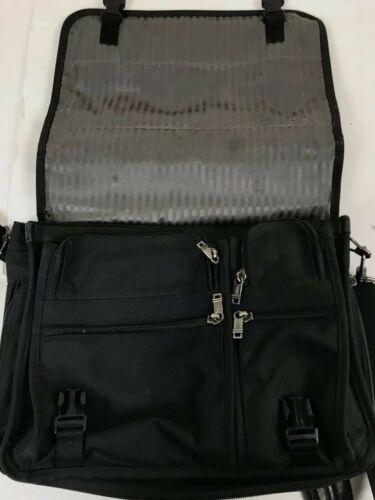 "Tumi Alpha Nylon Laptop Briefcase 16""x12"" Shoulder Messenger Bag c"
