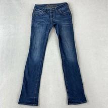 Delias Jeans Juniors Size 1 Blue Bootcut Morgan Low Rise Pants - $18.95