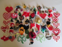 Crocheted Pendants Handcrafted Finished  Pin Ons For Occasions Or Gifts ... - $24.99