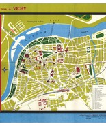 French Map Vichy France Map Travel Map Road Map c5 Art Graphics Toursim ... - $14.99