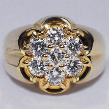 14KT Solid Yellow Gold Finish Men's VVS1 Diamond Solitaire Pinky Ring - £84.58 GBP