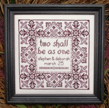 The Wedding MBT060 cross stitch chart My Big Toe Designs - $8.00