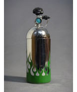 NOS NITROUS OXIDE TANK REPLICA CHROME WITH GREEN FLAMES BOTTLE TORCH LIG... - $4.86