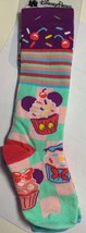 Disney Parks Kids Small Socks Cupcake Cherries New - $8.91