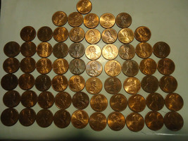 1996-D Lincoln Cent Roll ((( 61 Coins ))) >> S & H + C/S - $3.95