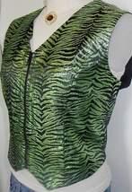 Shimmery Green Black Horse Show Hobby Halter Vest L  - $55.00
