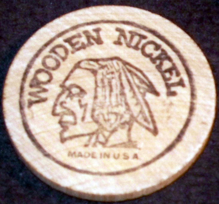 Indian wooden nickel 001