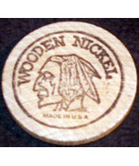 Lucky Indian Wooden Nickel  - $0.99